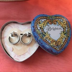 Brighton thick Scroll Hoops in Gift Tin - NEW